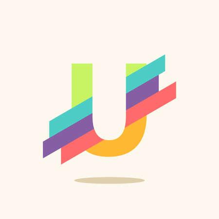 Letter U logo icon design template elements