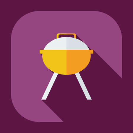 barbecues: Flat modern design with shadow icons barbecues