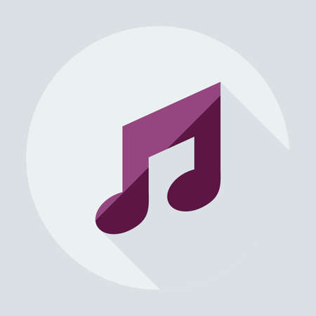 disc jockey: Flat modern design with shadow icons music Illustration