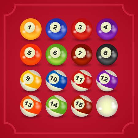 pool ball: set of billiard balls, billiards, American