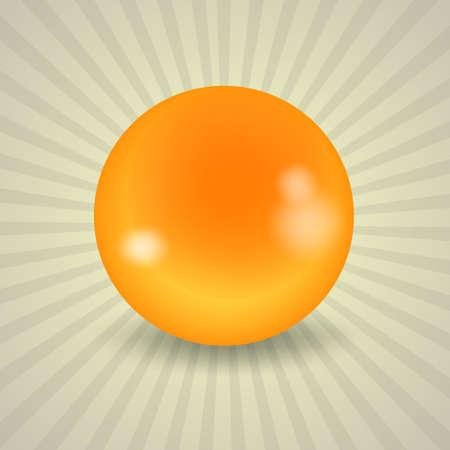 billiards cue: set of billiard balls, billiards, American cue, a yellow ball Illustration