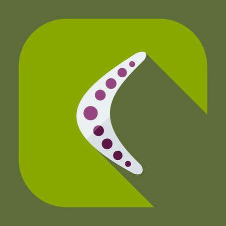 boomerang: Flat modern design with shadow icons, boomerang