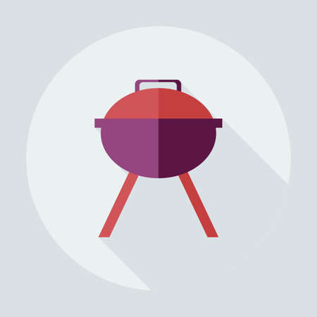 barbecues: Flat modern design with shadow icons, barbecues Illustration
