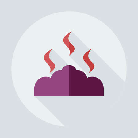 coals: Flat modern design with shadow icons, coals Illustration