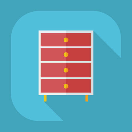 commode: Flat modern design with shadow icons, commode