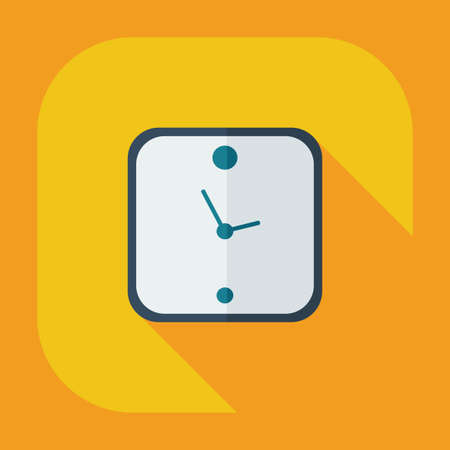 midday: Flat modern design with shadow icons, clock