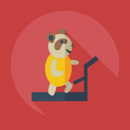 brute: Flat modern design with shadow icons, panda athlete Illustration