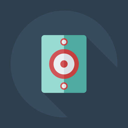 sub woofer: Flat modern design with shadow icons, audio