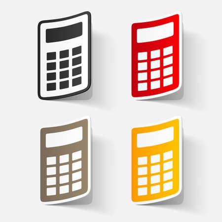 clipped: Paper clipped sticker: calculator