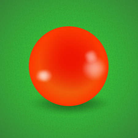 pocket billiards: set of billiard balls, billiards, American orange ball