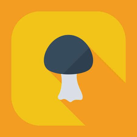 fungus: Flat modern design with shadow icons, fungus