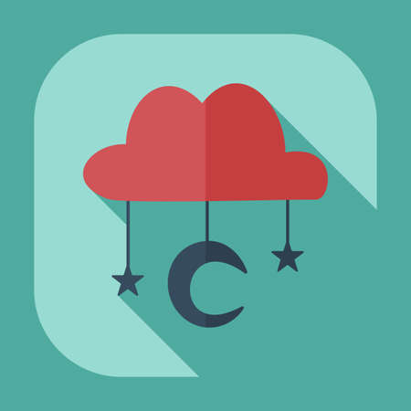Flat modern design with shadow icons, Muslim heaven