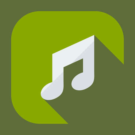 Flat modern design with shadow icons music Illustration