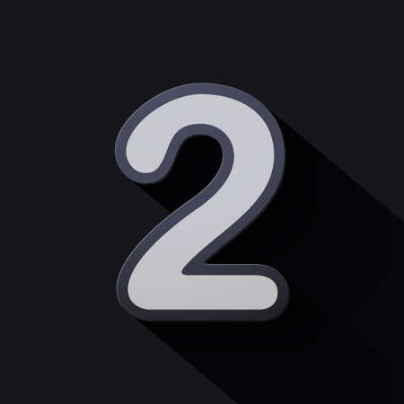 Volume icons number: two. Colorful modern Style. Illustration