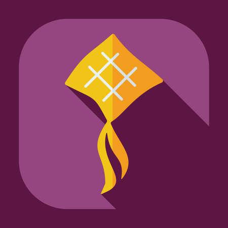 eastern spirituality: Flat modern design with shadow icons ramadan