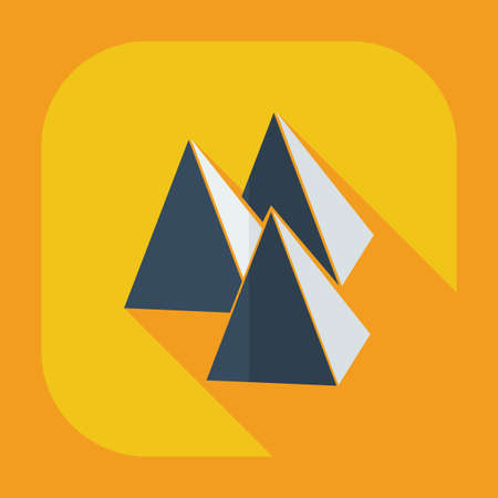 social history: Flat modern design with shadow icons pyramid