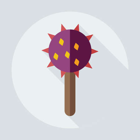 mace: Flat modern design with shadow icons mace