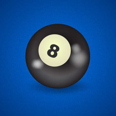 pocket billiards: set of billiard balls, billiards, American ball number 8