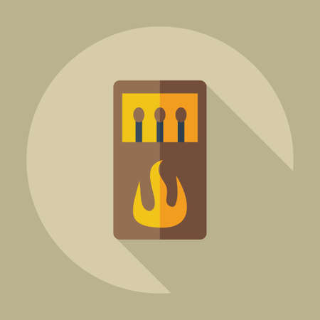 matches: Flat modern design with shadow icons matches Illustration