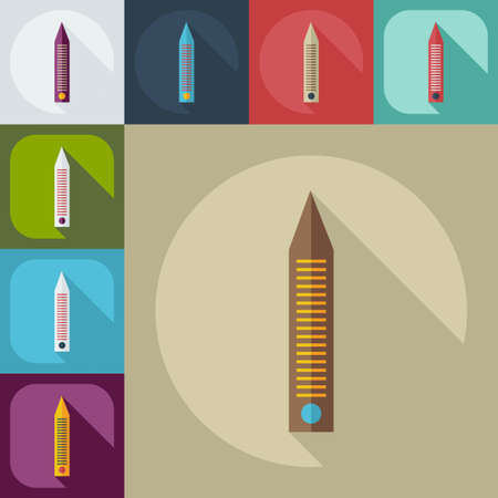 nail file: Flat modern design with shadow icons nail file