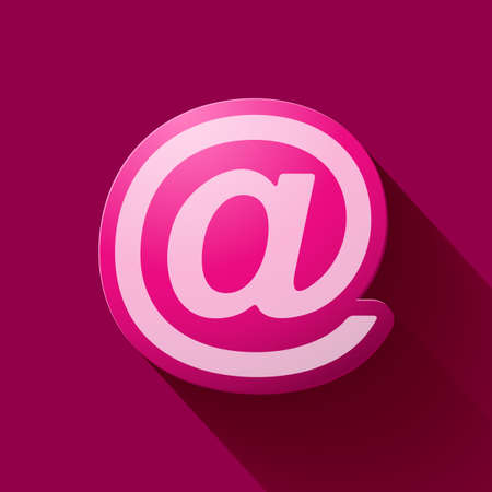 e mail: Volume icons symbol: e mail sign . Colorful modern Style. Illustration
