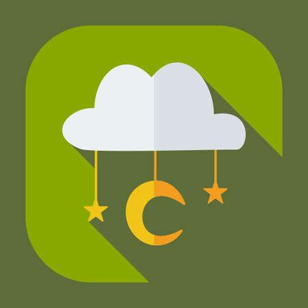 heaven: Flat modern design with shadow icons Muslim heaven