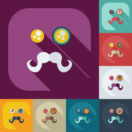 grimace: Flat modern design with shadow icons grimace Illustration