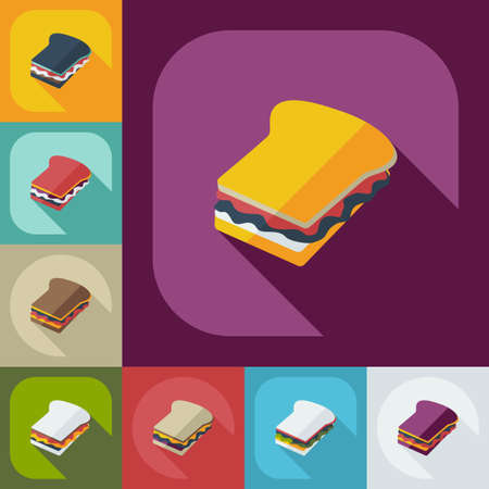 cafeteria tray: Flat modern design with shadow  Icon school lunch