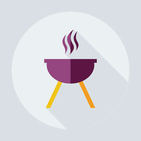 barbeque: Flat modern design with shadow icons barbecue Illustration