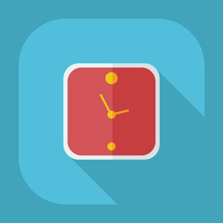 midday: Flat modern design with shadow icons clock