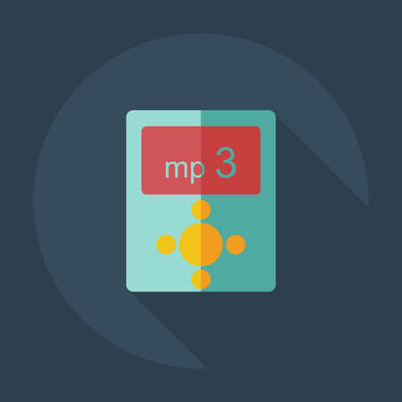 vocalist: Flat modern design with shadow icons mp3