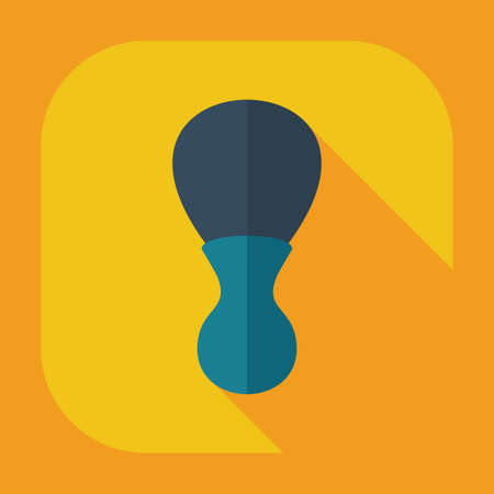 shaver: Flat modern design with shadow icons  for shaving