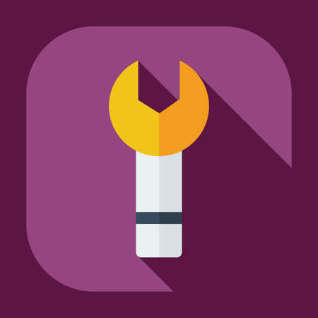 refit: Flat modern design with shadow icons wrench