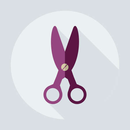 Flat modern design with shadow icons scissors