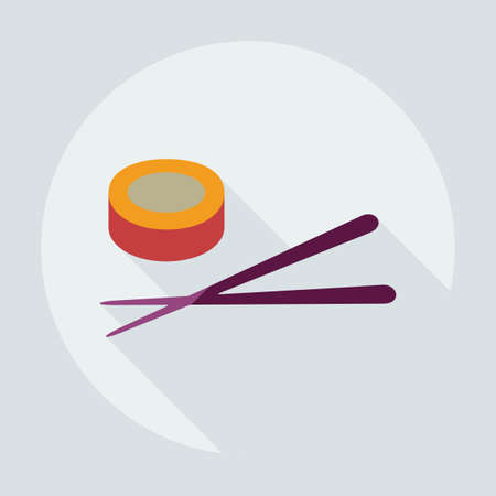 susi: Flat modern design with shadow icons Japanese sushi