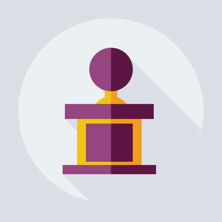 job satisfaction: Flat modern design with shadow icons judge Illustration