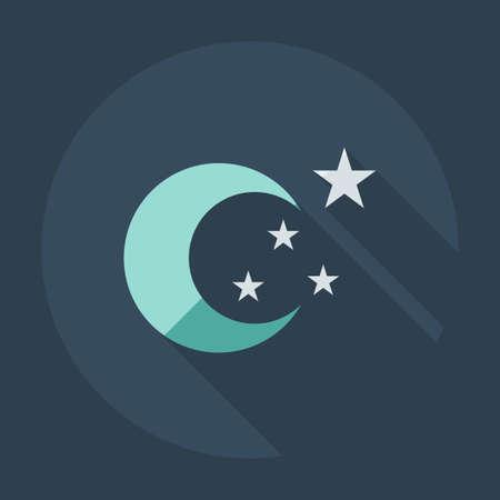 moonbeam: Flat modern design with shadow icons moon