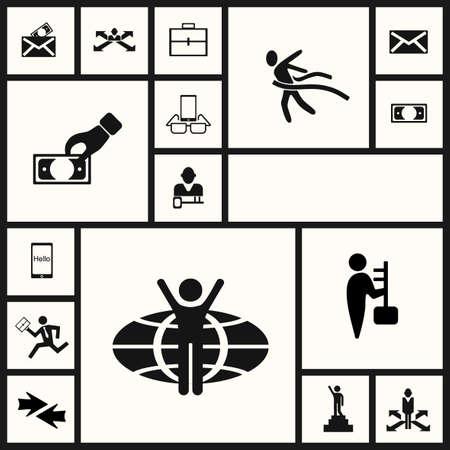 business symbol: figure stick icon vector  peaople