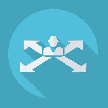 business trends: figure stick icon vector  peaople