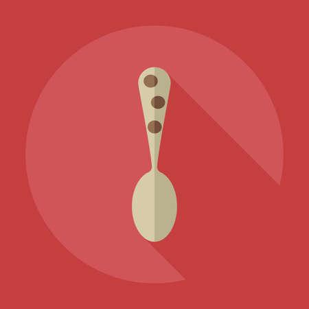 dinnerware: Flat modern design with shadow icons dinnerware