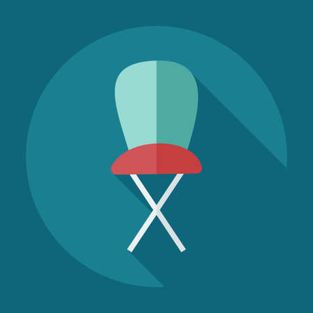 high chair: Flat modern design with shadow icons high chair Illustration