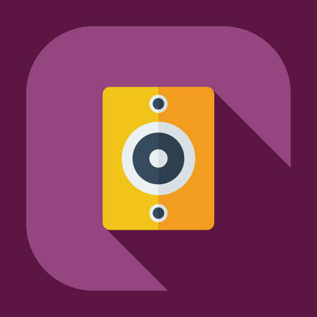 woofer: Flat modern design with shadow icons audio