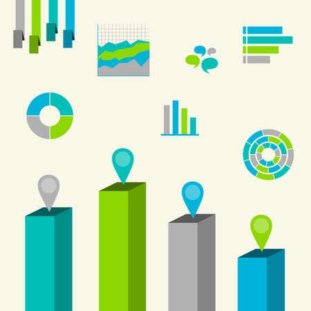Infographics. Set elements. Isolated illustration icon