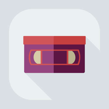 Flat modern design with shadow icon VHS tape