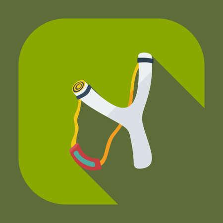 slingshot: Flat modern design with shadow  Icon slingshot