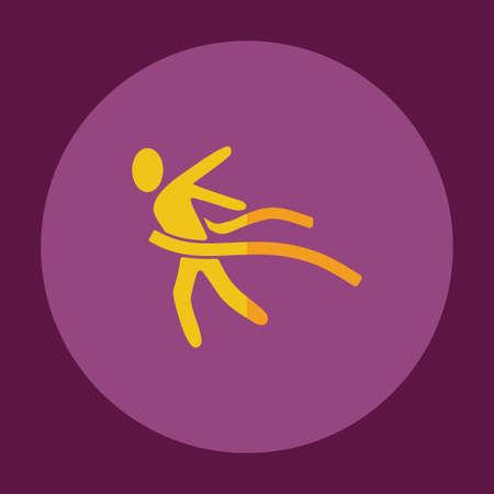 attache: stick figure of human silhouette.