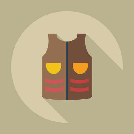 warning vest: Flat modern design with shadow icons