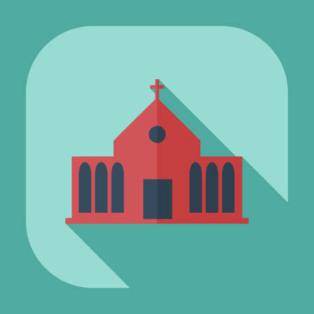 the altar: Flat modern design with shadow icons church Illustration