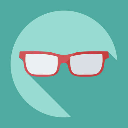 eye exams: Flat modern design with shadow icon optics