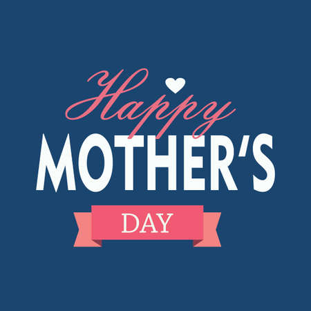 mothers day greeting card vector holiday image.